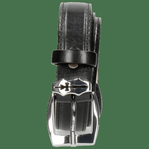 Belts Linda 1 Black Sword Buckle