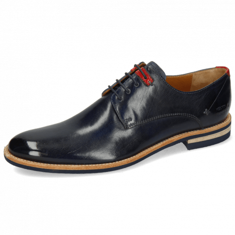 Derby shoes Clint 1 Imola Navy Deco Pieces Ruby