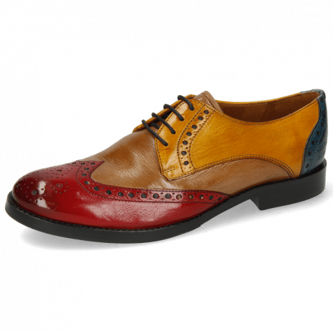Derby shoes Amelie 3 Pisa Ruby Cashmere Ocra Ice Lake