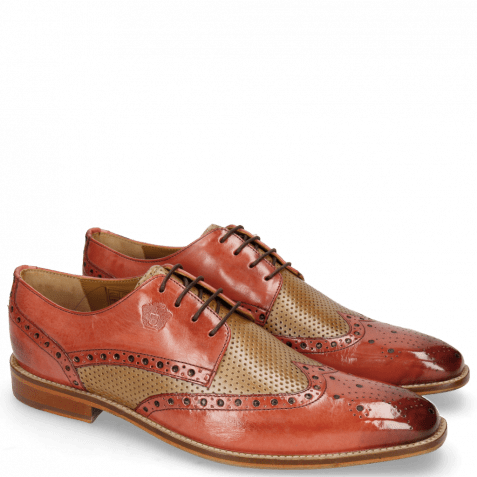 Derby shoes Martin 15 Berlin Ruby Perfo Nude
