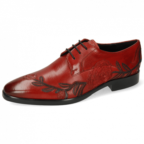 Derby shoes Emma 7 Rubino Embroidery Flowers