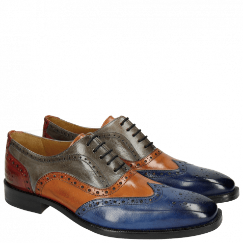 Oxford shoes Jeff 24 Classic Electric Blue Electric Orange Sky Red