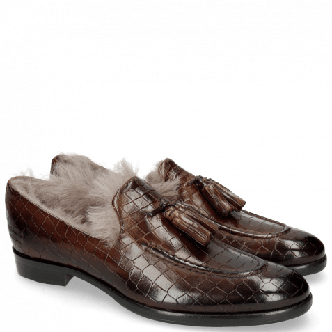 Loafers Clint 6 Crock Mid Brown Fur