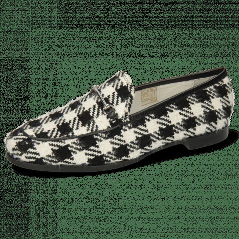 Loafers Scarlett 1 Textile Square Black White
