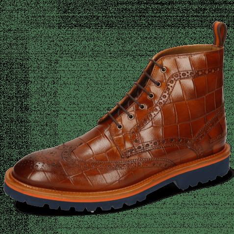 Ankle boots Matthew 7 Venice Turtle Cognac Loop Orange
