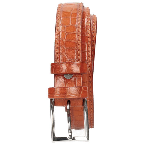 Belts Linda 1 Crock Winter Orange Classic Buckle