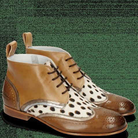 Ankle boots Sally 30 Vegas Nougat Nappa Aztek Gold Hairon Wildcat Sand