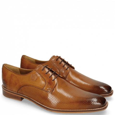 Derby shoes Martin 1 Berlin Perfo Tan Laces