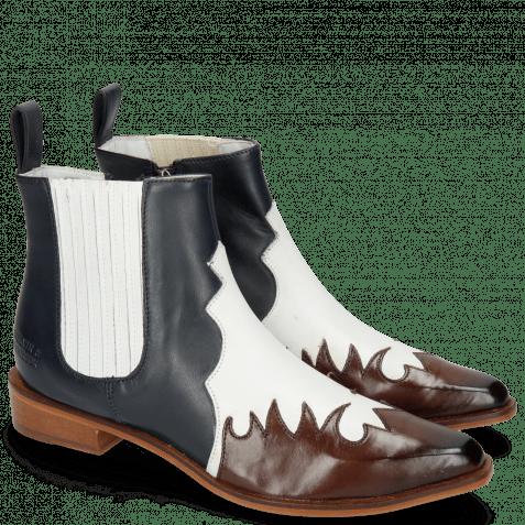 Ankle boots Marlin 46 Mogano Rio White Nappa Ship Glove Deep Navy