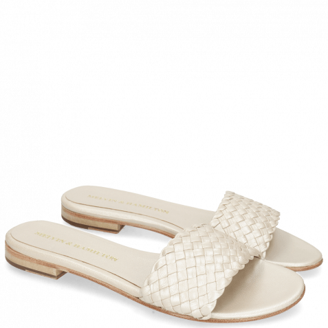 Mules Hanna 26 Woven Pearl