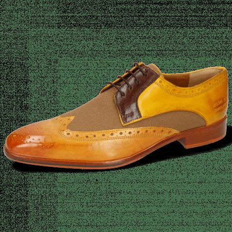 Derby shoes Lewis 3 Imola Mastic Textile Safari Tan Mid Brown Yellow