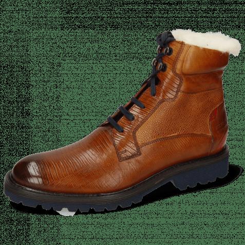 Ankle boots Trevor 25 Guana Cognac Scotch Grain Tan Ruby Fur