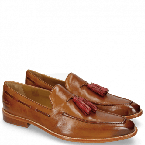 Loafers Leonardo 1 Pisa Tan Tassel Ruby