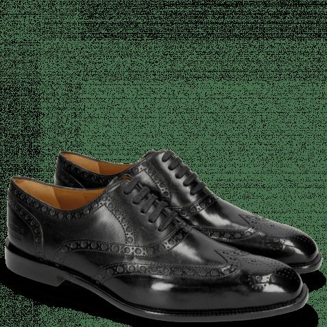 Oxford shoes Jacob 1 Black Lining Rich Tan