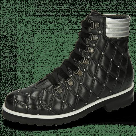 Ankle boots Bonnie 17 French Nappa Black Talca Silver