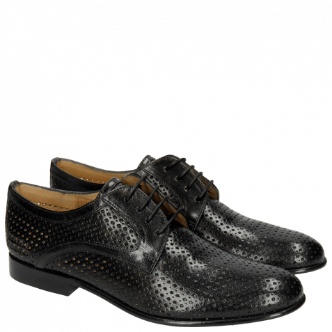 Derby shoes Sally 17 Venice Perfo Diamont Black
