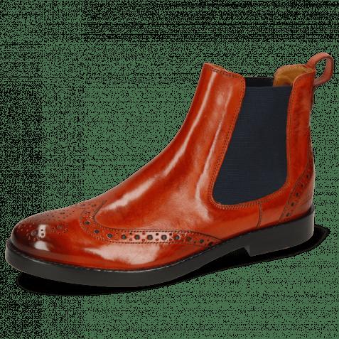 Ankle boots Amelie 5  Winter Orange Elastic Navy Lining