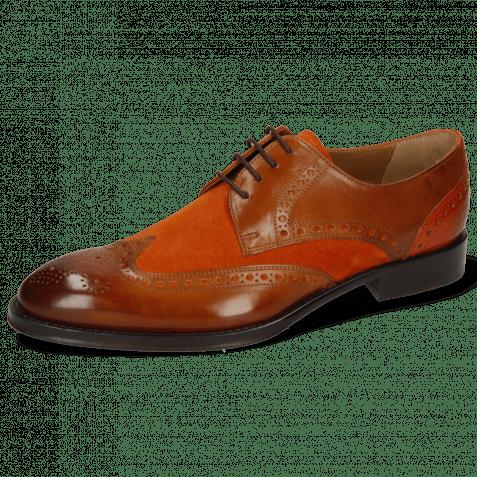 Derby shoes Kane 5 Wood Suede Pattini Orange