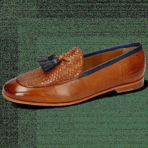 Loafers Scarlett 44 Pavia Tan Haring Bone