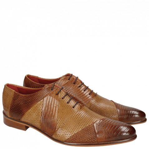 Oxford shoes Toni 20 Guana Venice Perfo Tan Sand