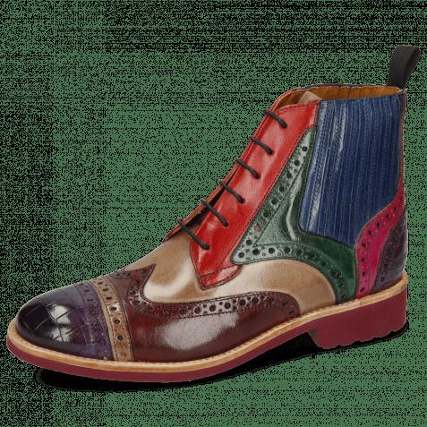 Ankle boots Amelie 17 Crock Purple Flame Pale Lila Burgundy Oxygen Ruby Pine