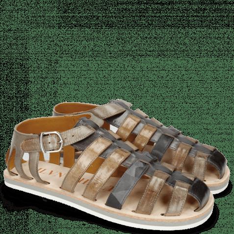 Sandals Sam 3 London Fog Grigio Camo Stone Oxygen Morning Grey