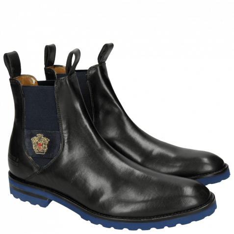 Ankle boots Eddy 27 Crock Black Strap Embrodery