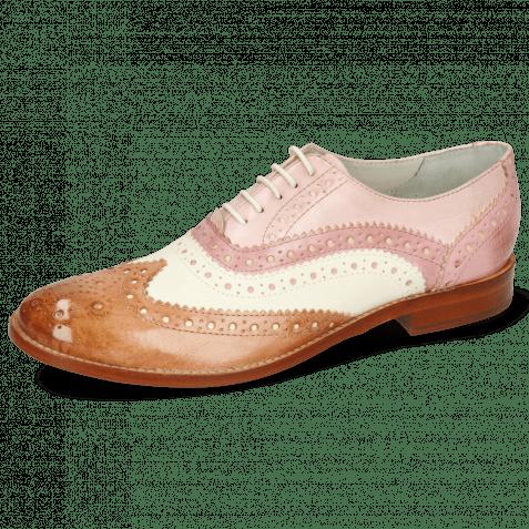 Oxford shoes Amelie 10 Vegas Light Rose White Pale Rose Skin