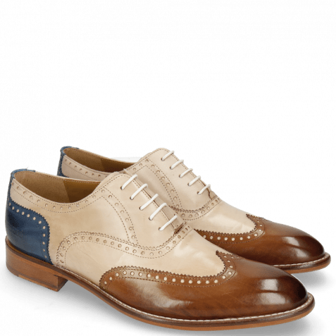 Derby shoes Kane 31 Nougat Natural Neptune Blue