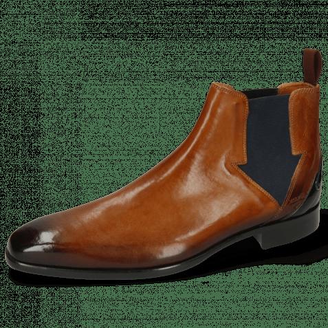 Ankle boots Lance 19 Pisa Tan Elastic Navy