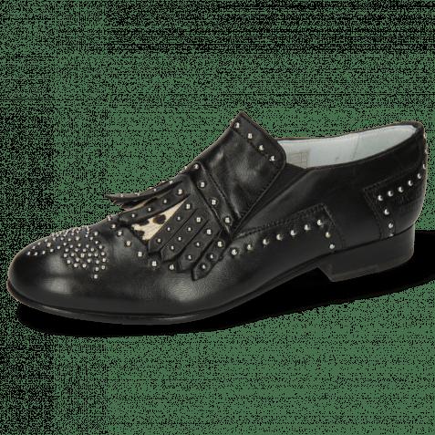 Loafers Sally 95 Nappa Black Hairon Wildcat