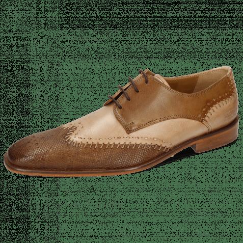 Derby shoes Clark 1 Venice Phython Nougat Powder Nougat
