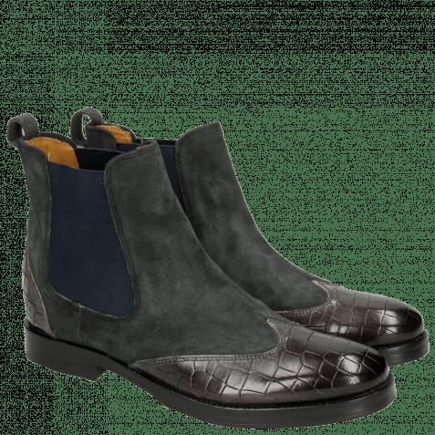 Ankle boots Amelie 13 Crock Stone Lima Stone Elastic Navy