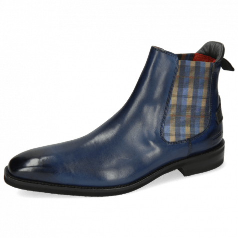 Ankle boots Dave 5 Nappa Navy Elastic Norwegian