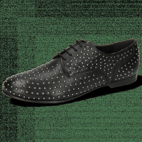 Derby shoes Sonia 10 Nappa Black Rivets
