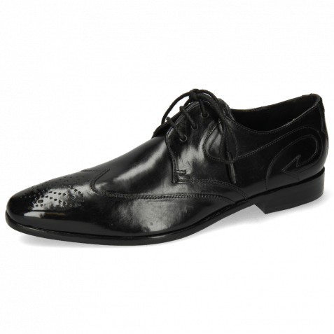 Derby shoes Elvis 63 Black Tassel Black