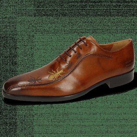 Oxford shoes Lewis 31 Wood Lasercut Ant Gold