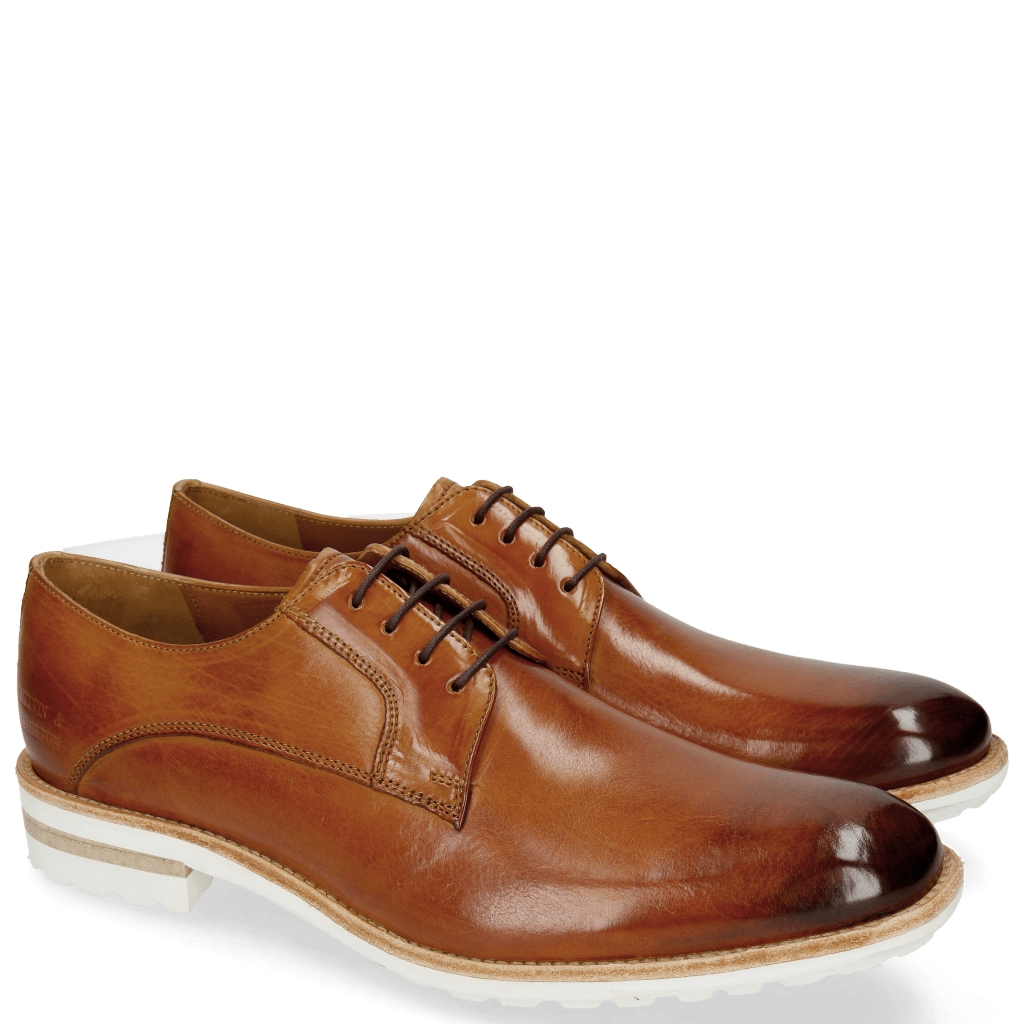 Derby shoes Eddy 8 Tan Aspen White