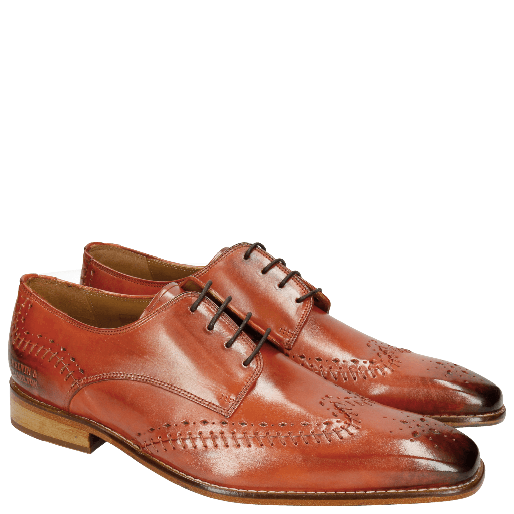 Derby shoes Clark 1 Orange