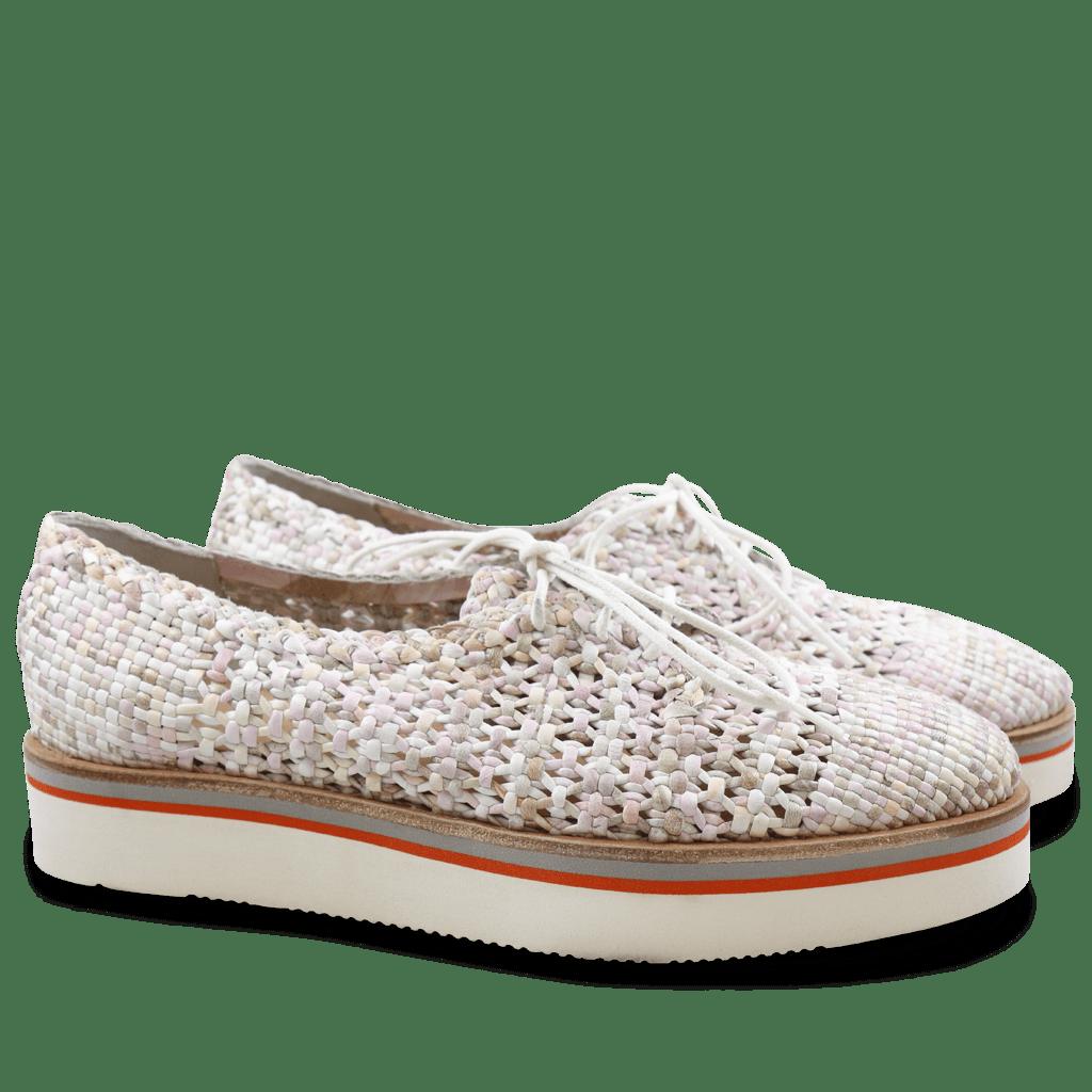 Derby shoes Cyrine 1 Woven PR 2603 White XL Malden White