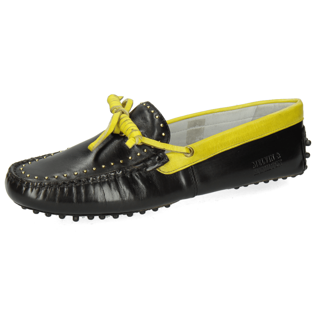 Loafers Caroline 8 Black Fluo Yellow