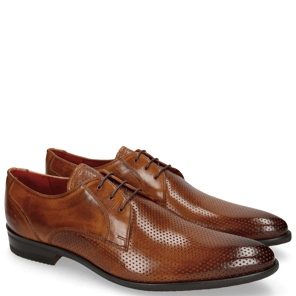 Derby shoes Toni 1 Perfo Tan Modica Red