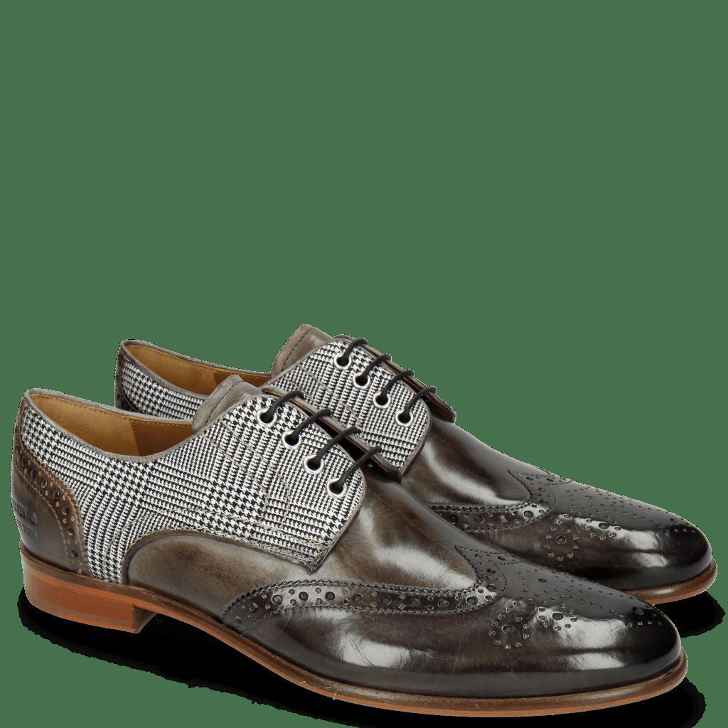 Derby shoes Clint 18 Grigio Tex Check Light