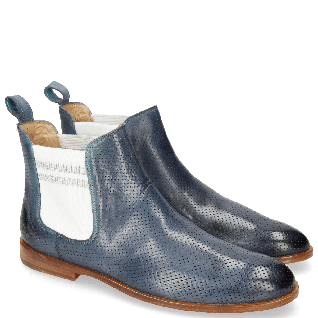 Ankle boots Susan 10 Perfo Moroccan Blue Elastic Nadal