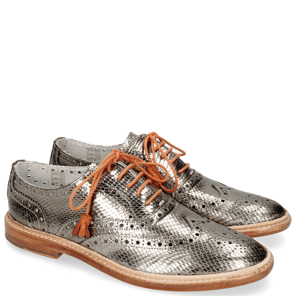 Oxford shoes Monica 4 Glitter Gunmetal