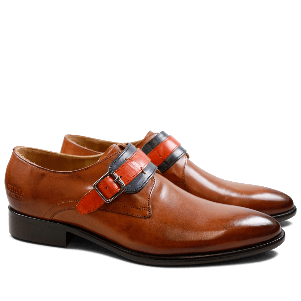 Monks Riley 2 Crust Tan Navy Orange HRS