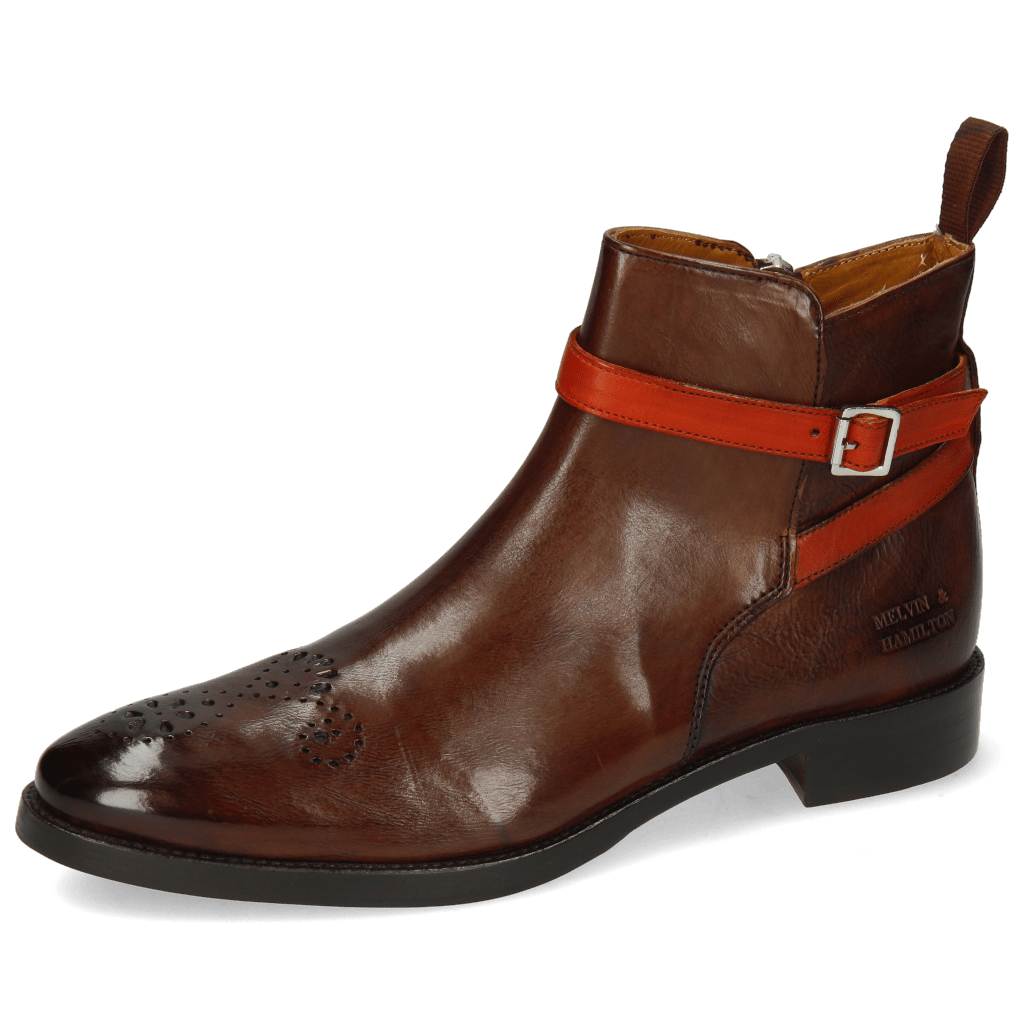 Ankle boots Betty 8 Pisa Mid Brown Strap Winter Orange