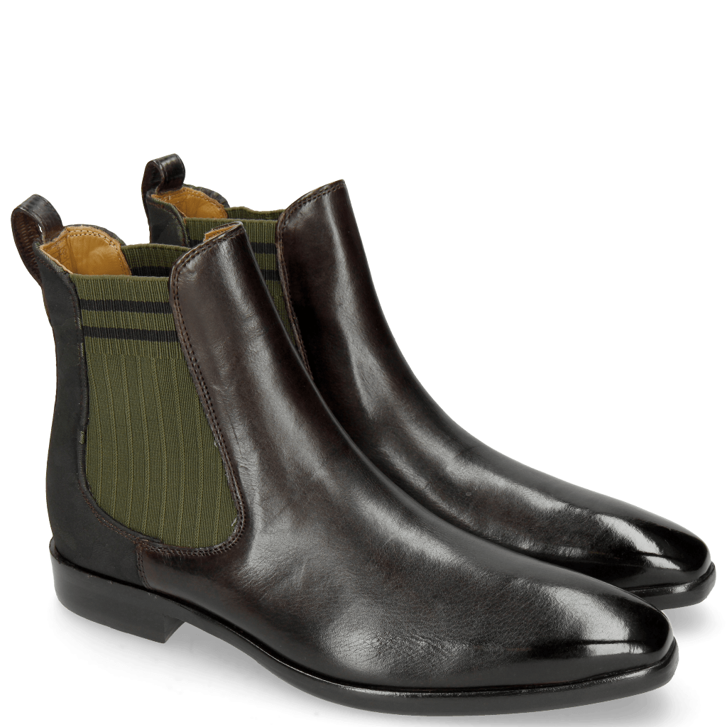 Ankle boots Emma 8TM Expresso Camo Satin Bosco
