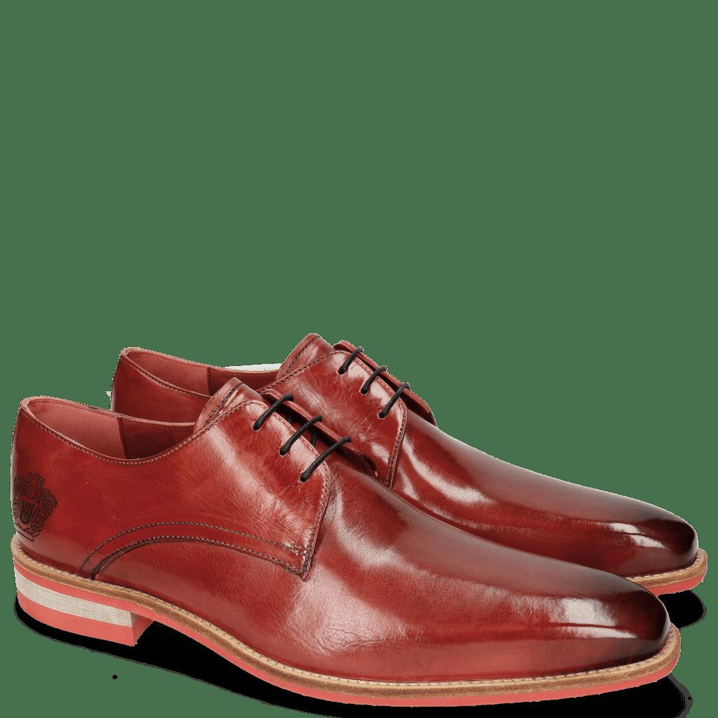 Derby shoes Lance 24 Ruby Lasercut Crown