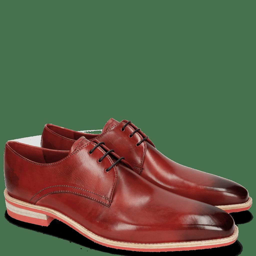 Derby shoes Lance 24 Red Lasercut Crown